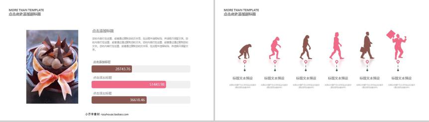 简洁商务西式糕点产品介绍宣传方案策划PPT模板